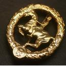 German Horseman's Badge in Gold